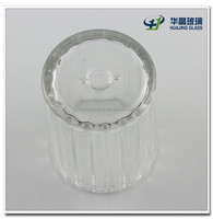 High quality decorate clear empty glass lamp shade for table lamp wholesale