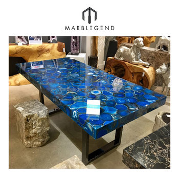 Superior Customized Design Size Agate Coffee Table Top For Living Room