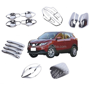 21PCS New Complete Sets New Full Sets QASHQAI 2016 ABS Chrome Decoration Full CHROME Kit