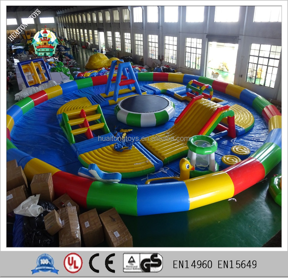 inflatable water park game dome swimming poo water toys for kids