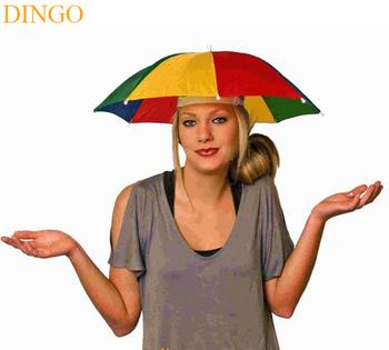 Barato sol plegable logo impreso publicidad sombrero cabeza forma de  paraguas d1aaea914bf