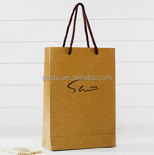 kraft paper shopping/ Jewelry / gift / Clothes bag customized handbag decorative cheap paper bags