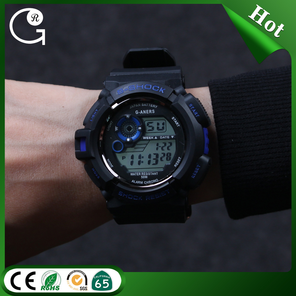 2016 Fashion Wristwatches Waterproof Men Digital LED electronic waterproof sport watches