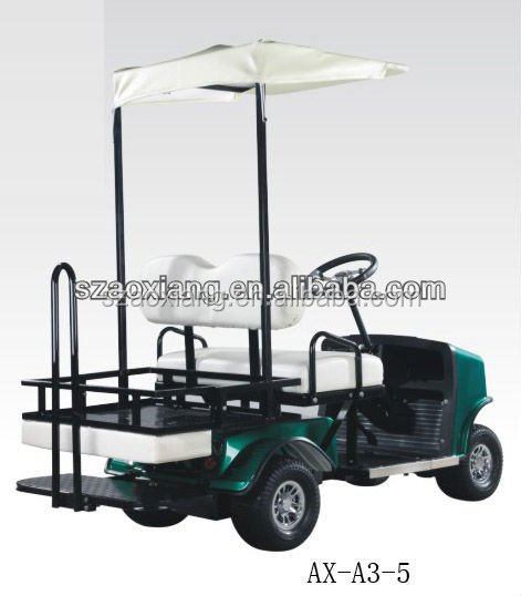 USA market best selling 4 seater electric maintenance cart utility vehicle with foldable rear seat and CE certificate