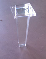 New Design 6-16 inch Durable Lucite Clear Acrylic Furniture Legs Coffee Table Legs
