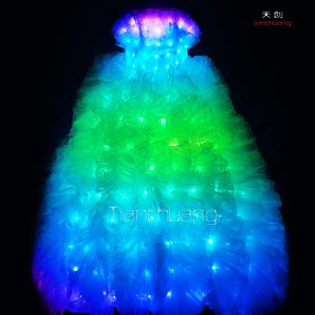 Illuminated Wedding Dress Prom Dresses With Led Lights