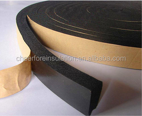 Nbr Pvc Closed Cell Thermal Insulation Rubber Foam Roll