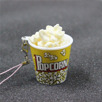 Christmas Ornaments Party Decor Fake Popcorn Pendant Bag Charms