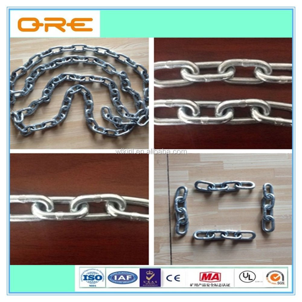 Hot Dip Galvanized or Painted DIN766 Lifting Chain