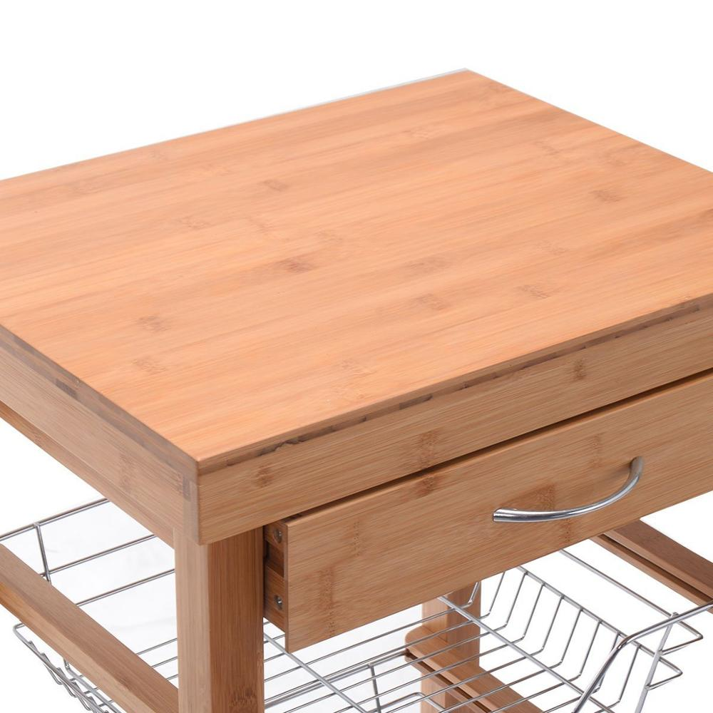 small butchers block wooden kitchen trolley 3