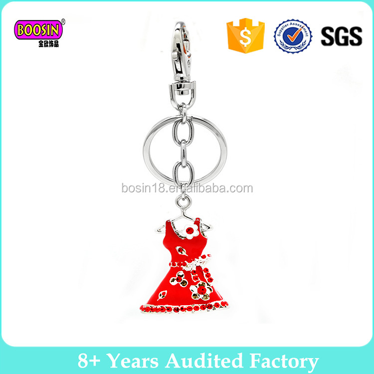 Newest design metal alloy enamel keychain manufacturers