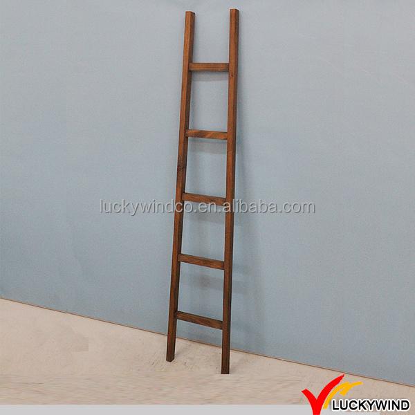 hecho en casa interior de madera rstica escalera decorativa