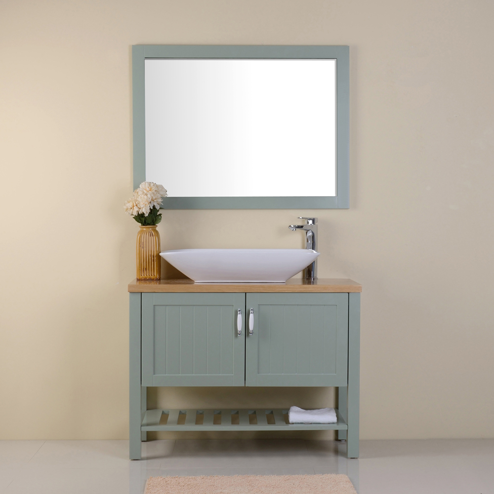 Modern style economic bathroom cabinet vanity for apartment
