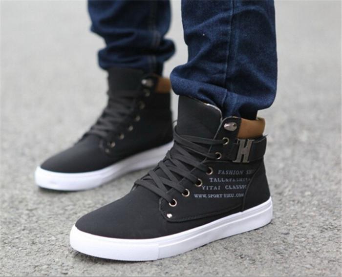 zapatos tipo botas para hombre