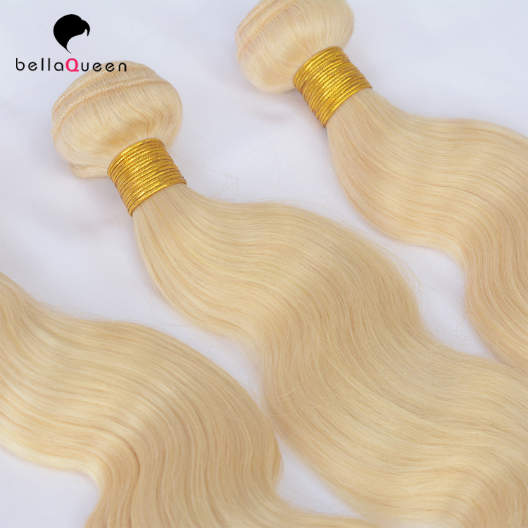 Dropshipping cuticle aligned virgin brazilian hair blondes 613 color hair for ladies hair beauty
