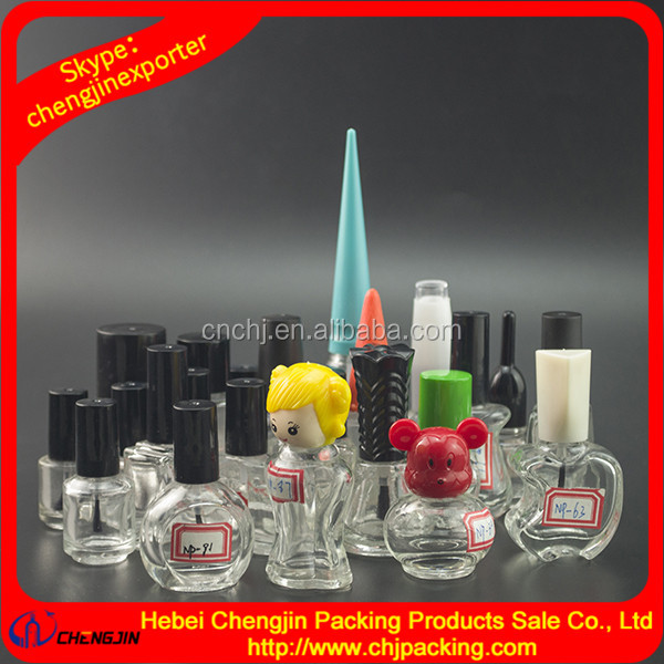 9ml 12ml nail polish bottle with brush cap ,glass bottle