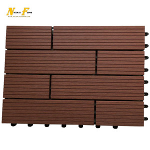 Professional German technology Interlocking park thermowood decking diy