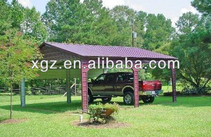 Steel Structure Carport / Car Garage