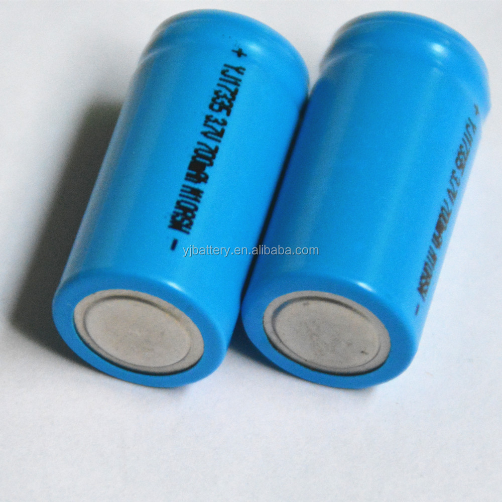High quality 3.7v 17335 li-ion rechargeable battery 700mah from YJ Power
