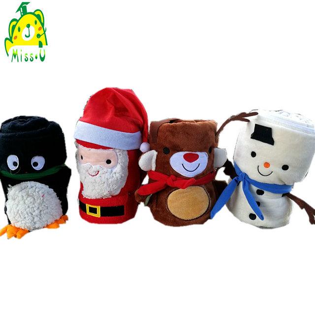 christmas baby blanket plush Super soft Flannel gnomes plush doll toy