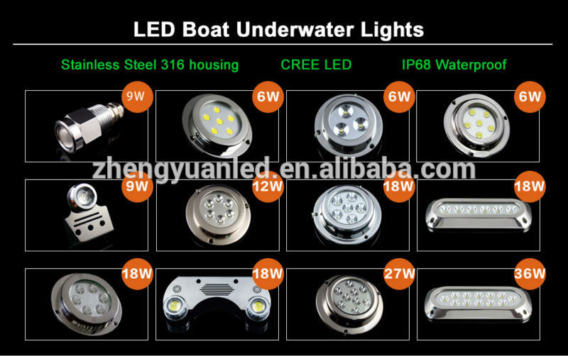 hot sales!! drain plug light 12v underwater led boat lights 18w, Reel Combo