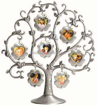 Pewter Metal Family Tree Photo Frames Buy Metal Family Tree Photo