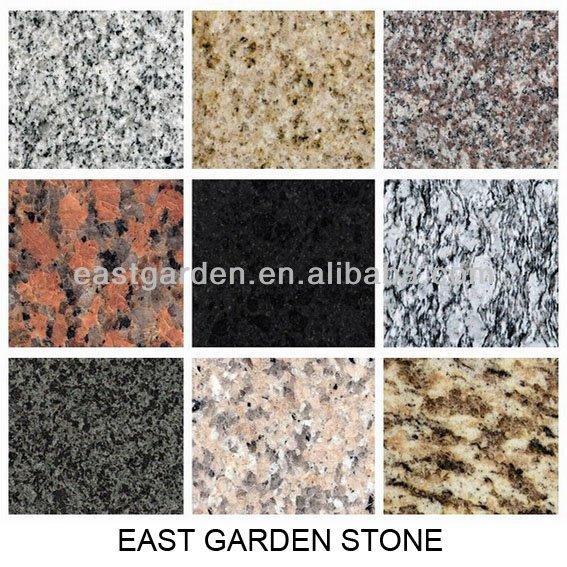 varios colores de baldosas de granito