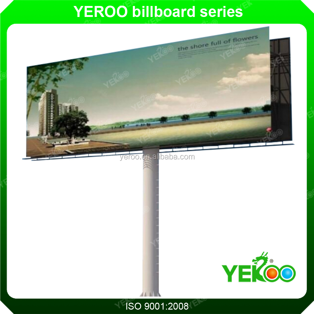 hot dip galvanized steel material flax banner Outdoor highway sign board