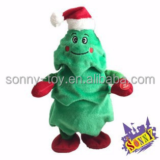 Singing And Dancing Plush Christmas Tree Toy - Buy Singing And ...