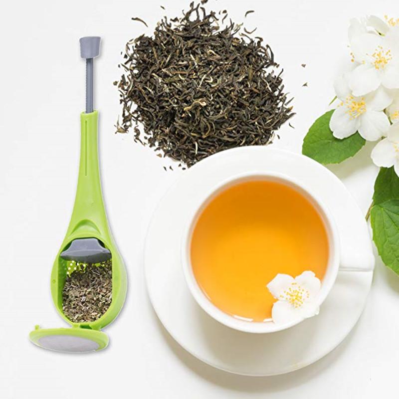 प्रचार पुन: प्रयोज्य कस्टम रसोई उपकरण यात्रा कस्टम गिरा हुआ पत्ता चाय infuser