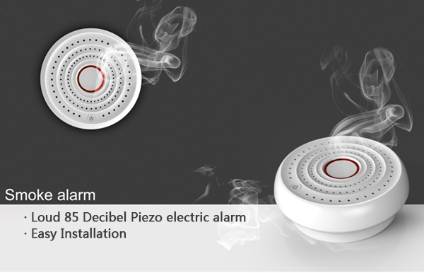 High Sensitive home security mini battery smoke alarm