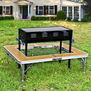 Portable Folding Korean Bbq Grill Table For Outdoor