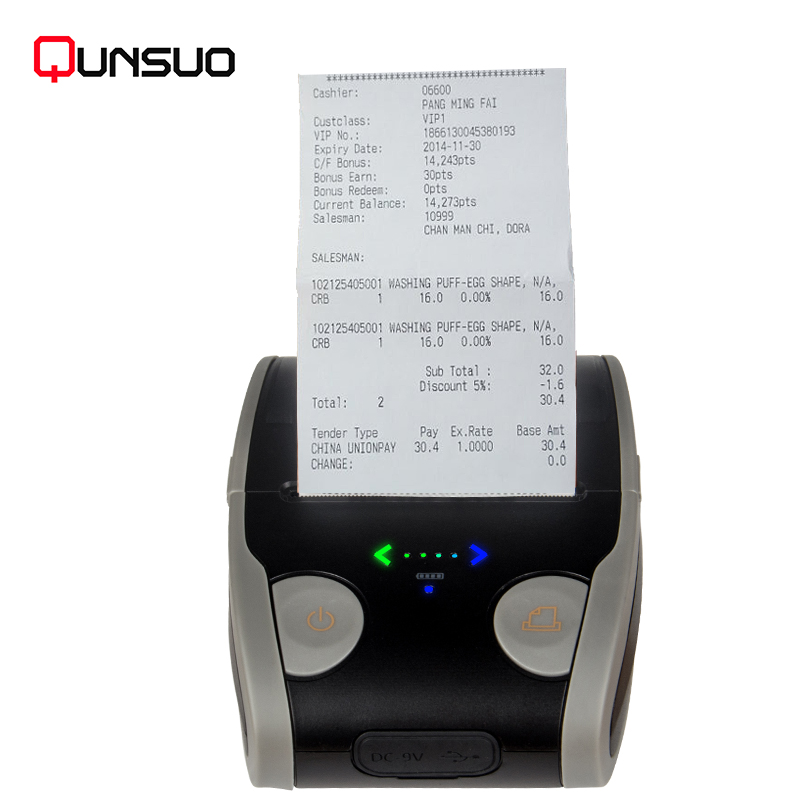 58 mini portable bluetooth thermal wireless receipt <strong>printer</strong> Handheld colorful