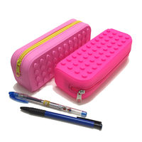 Kids Large Pouch Durable Soft Custom Silicone School Pencil Case Pencil Box With Nylon Zipper