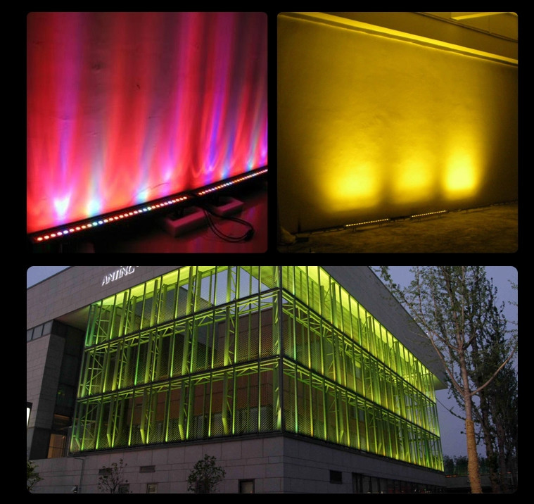 Full Color Rgbw Led Exterior Building Outdoor Lights Bar Mini Gl Washer Light