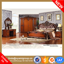 GuangDong romantic various colour neo-classic solid wood bedroom