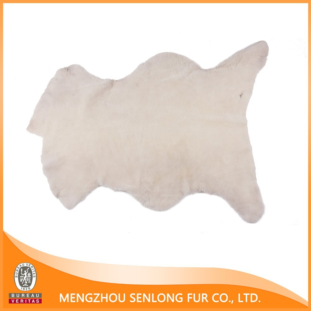 Eco-friendly Natural White Fur Rug sheepskin fur