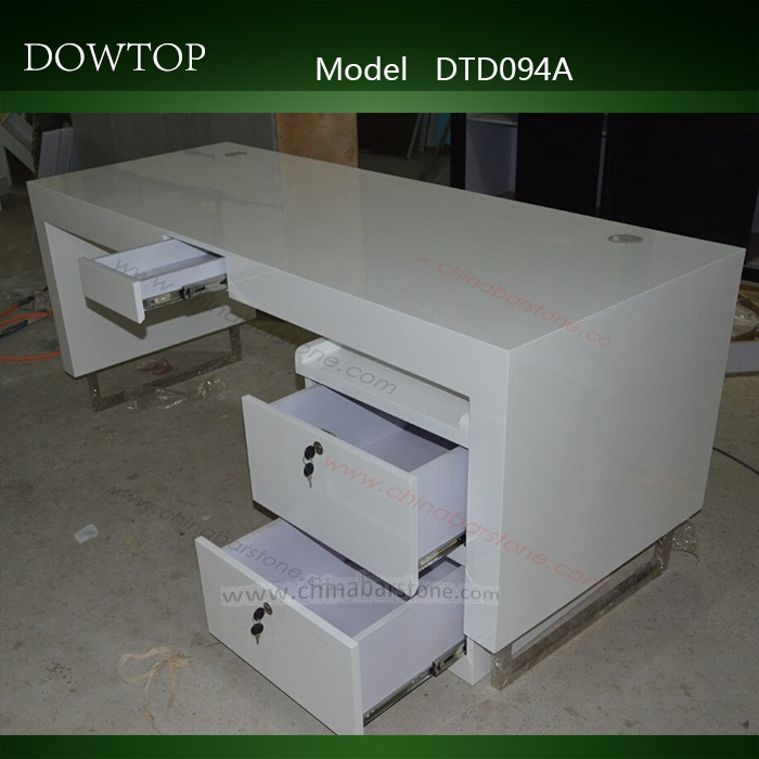 Dowtop Oval Shape Solid Surface Office Desk Computer Table Modern ...