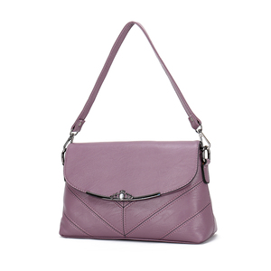 inclined shoulder bag Genuine Leather bags women handbags