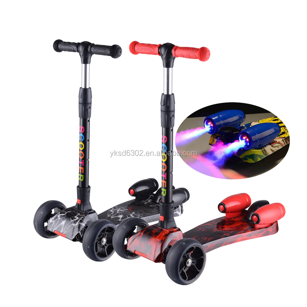 Whole Kids Kick Scooter And Foot Pedal 3 Wheel Water Spray Jet