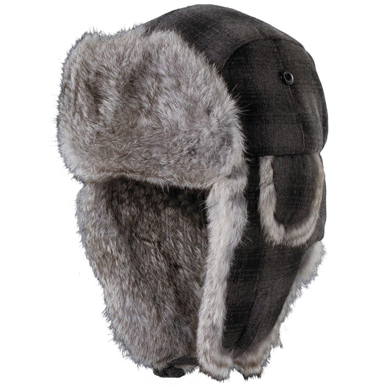 Get Quotations · Woolrich Men s Wool Blnd Fur Trapper Hat 0b22864e4afd