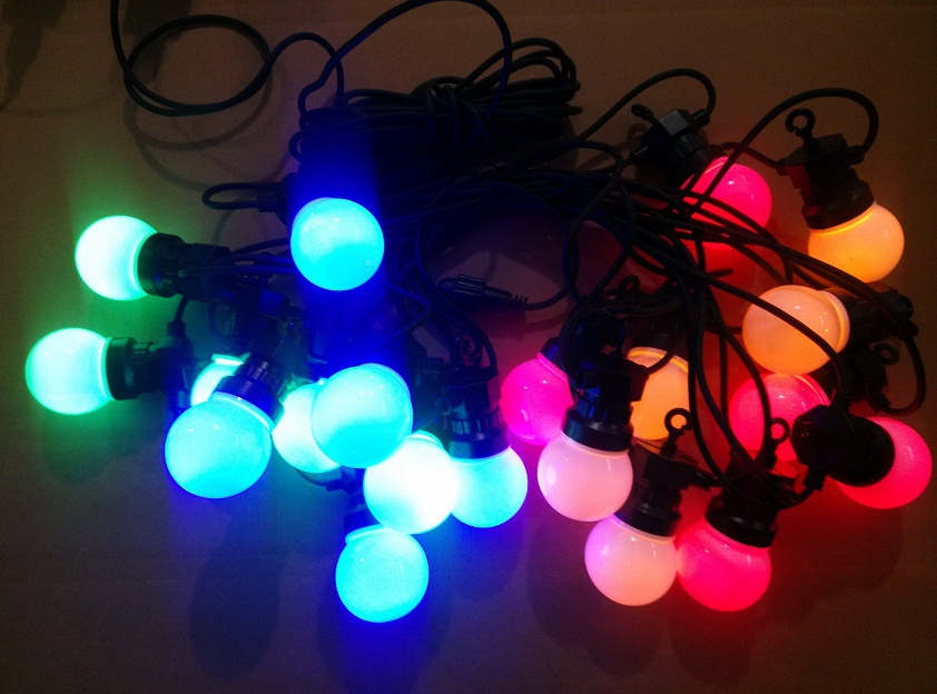 20 Led Multi Coloured Festoon Globe Fairy String Party Christmas ...