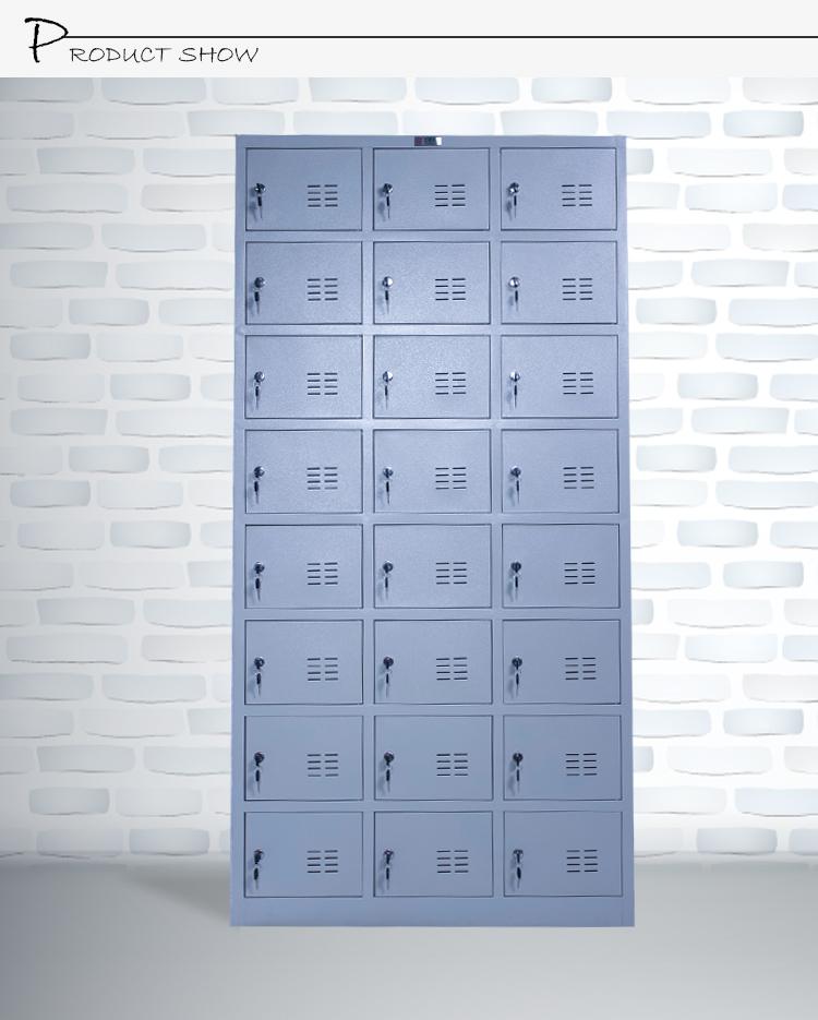 Luoyang Supplier Grey 24 Door Metal Locker Style Storage Cabinet ...