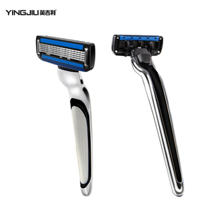 New design shaver men 5 blades plus 1 trimmer blade shaving set no shaving foam
