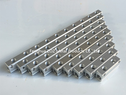 Air pneumatic aluminum manifold block quot inlet