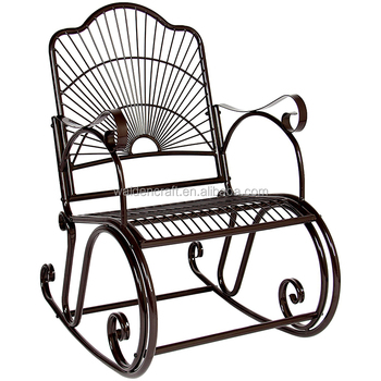 Outdoor Antique Wrought Iron Rocking Chair Buy Rocking Chair