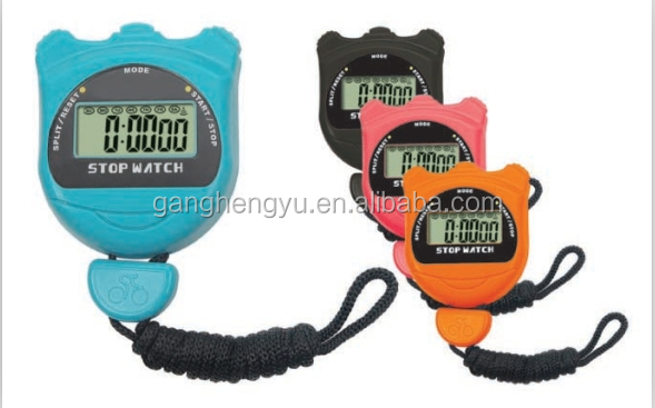 Charming Portable Handheld Mini Stopwatch Digital Sport Watch