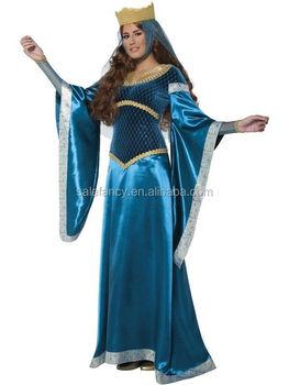 Adult halloween costume Deluxe Medieval Maiden Maid Marion Robbin Hood Ladies Fancy Dress Costume QAWC-  sc 1 st  Alibaba & Adult Halloween Costume Deluxe Medieval Maiden Maid Marion Robbin ...