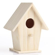 Unfinished Wooden Birdhouses wooden bird craft for Crafting