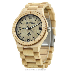 Factory wholesale wood watches promotional vintage japan movement quartz wrist watch men